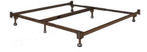 brass king size metal bed frame. Black Bedroom Furniture Sets. Home Design Ideas