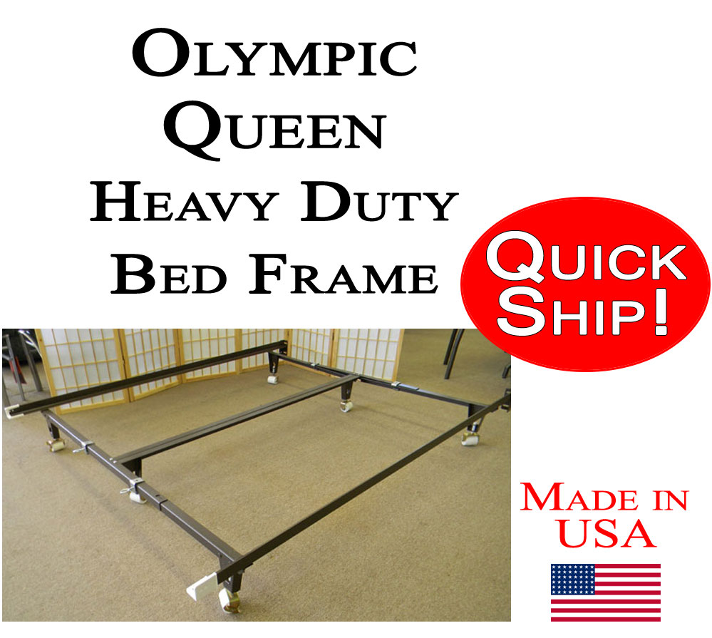 olympic queen bed frame heavy duty with bolt on head board brackets