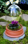 21 Inch Glass Cloche With Terra Cotta Tray