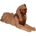 Egyptian Sphinx, Stone Bronze
