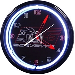 Corvette C6 Black Neon Clock