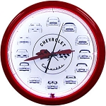 Corvette Cars Neon Clock