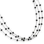 3 Strand Tube with Black Onyx Beads