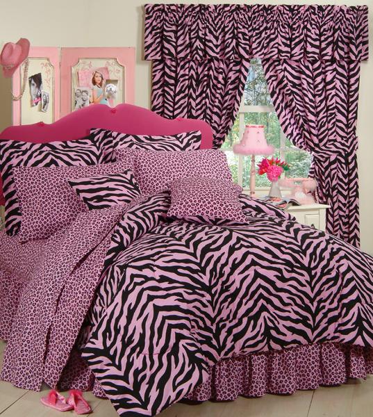 Zebra Print Bedroom: Pink Zebra Print Comforter And Bedding