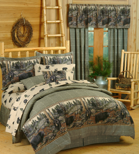 The Bears Lodge Style Comforter And Bedding