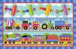 Planes, Trains, And Trucks Rug 19