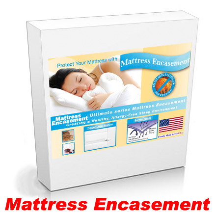 Short Queen Platform Bed Mattress Encasement Protection from Bed Bugs and Dust Mites