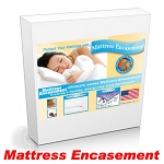 Three Quarter Captains Bed Mattress Encasement Protection from Bed Bugs and Dust Mites