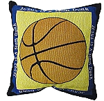 Pair of Basketball Throw Pillows Jesus Is A Slam Dunk