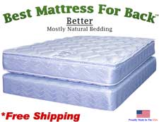 Three Quarter Better, Best Mattress For Back