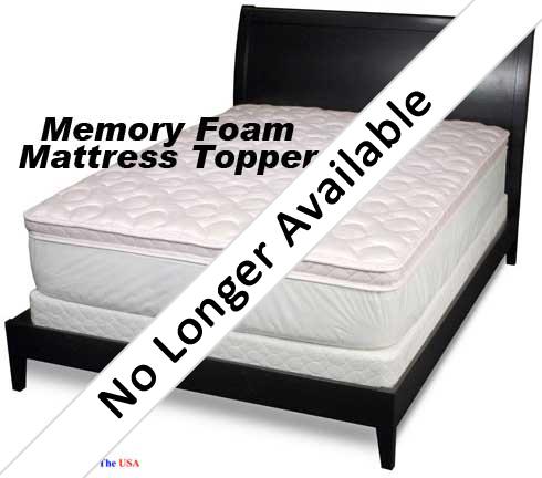 34 over quilt memory foam mattress topper