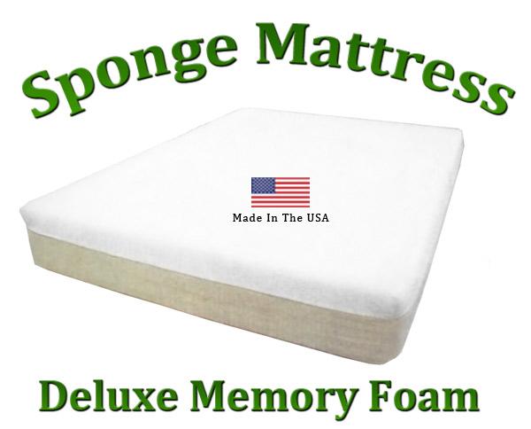 """Deluxe Twin Sponge Mattress Memory Foam 10"""" Total Thickness"""