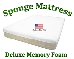 "Deluxe Twin Sponge Mattress Memory Foam 10"" Total Thickness"