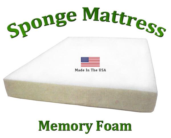 "King Sponge Mattress Memory Foam 8"" Total Thickness"