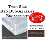 Quick Ship! Twin Size Allergy and Bed Bug Protection Encasement