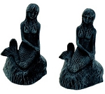 Mermaid With Verdigris Finish Bookend Set