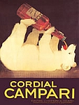 Cordial Campari Vintage Tin Sign