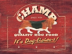 Champ Dog Food Vintage Metal Sign