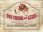 English Dog Lead Company Vintage Metal Sign