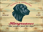 Hargreves Dog Food Vintage Metal Sign