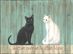 Le Chat Vintage Metal Sign