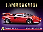 Lamborghini Countach LP400S Vintage Tin Sign