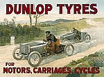 Dunlop Tyres Vintage Tin Sign