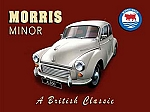Morris Minor A British Classic Vintage Tin Sign