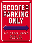 Scooter Parking Only Vintage Tin Sign