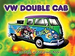 VW Double Cab Psychedelic Rock Car Vintage Tin Sign