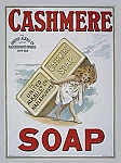Cashmere Soap Vintage Tin Sign