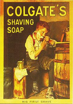 Colgate S Shaving Soap Vintage Tin Sign