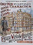 English Window Cleaning Vintage Tin Sign