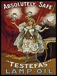 Testefas Lamp Oil Vintage Tin Sign