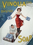 Vinolia Household Soap Vintage Tin Sign