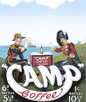 Camp Coffee Metal Sign
