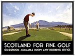 Scotland For Fine Golf Tin Sign