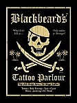 Blackbeard's Tattoo Parlour Tin Sign