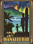 Hanalei Bay North Shore Kauai Tin Sign