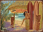 Come to Hawaii Kona Surfboard Rentals Tin Sign
