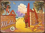 Malibu Surfrider Beach Tin Sign