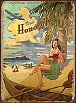 Visit Honolulu Hawaii Tin Sign