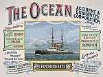The Ocean Ship Vintage Tin Sign