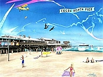 Cocoa Beach Pier Tin Sign