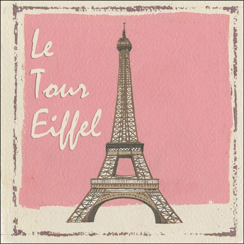 Le Tour Eiffel Tower Vintage Metal Sign