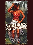 Surfers Welcome Tin Sign