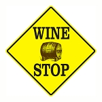 Wine Shop Metal Sign