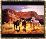Horse Canyon Trails Tapestry