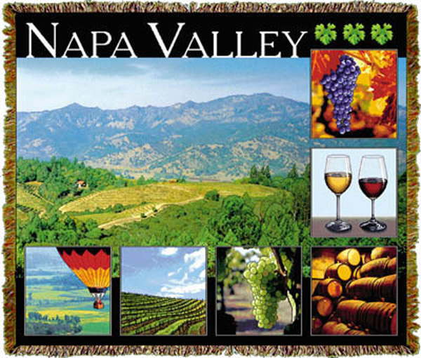American history tapestry for Napa valley home decor