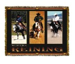 Horse Western Reining Tapestry